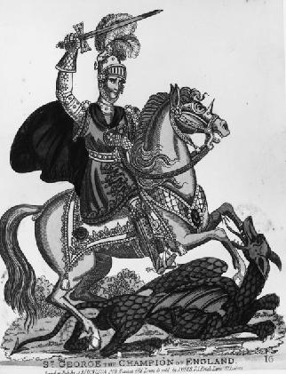 St George Slaying the Dragon, undated print