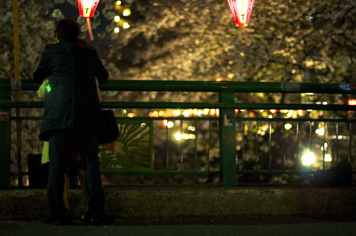 Sakura nocturno de Naka Meguro