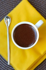 Mint mud in espresso cup