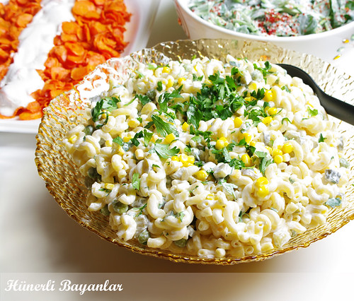Akşam Çayı Sofrası-Makarna Salatası