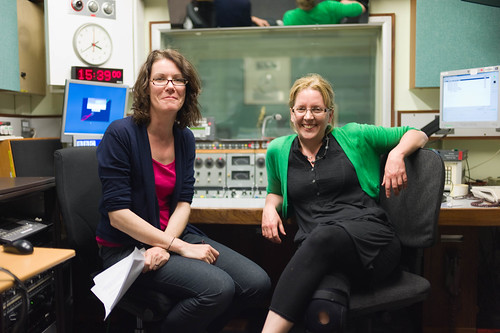 Annette Mackenzie and Carrie Gracie at the BBC World Service