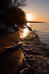 Yesterday.. (JHeisig Photography) Tags: trees sunset sky sun lake beach nature water outside spring amazing sand nikon rocks pretty waves may driftwood lakeontario nikond3100