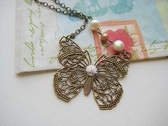 Chasing the butter fly (Manomay Jewelry) Tags: pearls intricatedesigns beadednecklace vintagejewelry butterflypendant ivorypearls handmadejewelrycustomdesignjewelrylocketnecklacespostearringsbridaljewelryaffordablejewelryjewelleryforwomenfashionaccessories