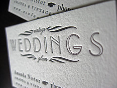 Vintage Glam Weddings Letterpress