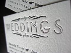 Vintage Glam Weddings Letterpress