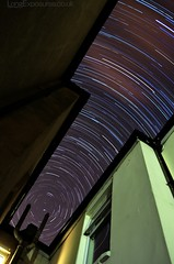 Tight Space: Star trails between the houses (AndWhyNot) Tags: longexposure houses sky urban house night star long exposure terrace space gap trails portsmouth southsea startrails stargazing terraced 5614 urbanstartrail urbanstartrails