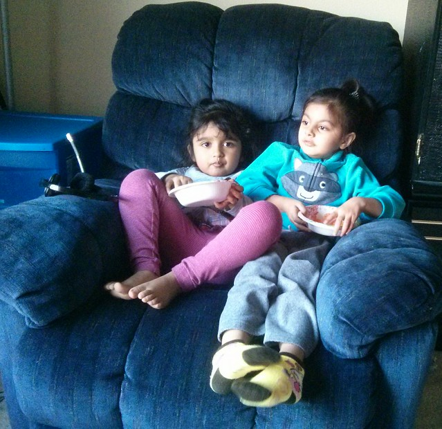 Areen with her first frnd. Ashmi..