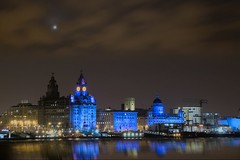 Liverpool (Jeffdalt) Tags: old city uk england sky tower english water night liverpool river capital culture celebration liverbird 2009 mersey graces merseyside handover ineffable liverpool08