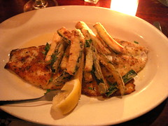 Snapper Filet Pane and Zucchini Fritti - Crispo