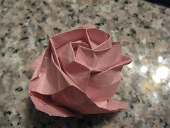 origami rose -side