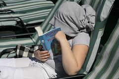 keep you head cold if you study (Dick Verton) Tags: girl egypt nile study cruiseship protecting