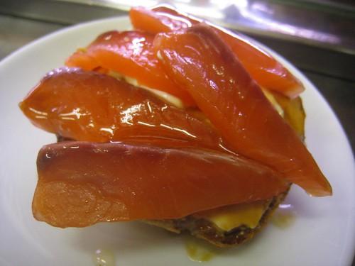 Salmon tapa in Barcelona