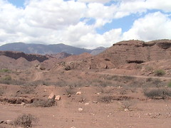 First day of the car rental in the quebrada above Salta