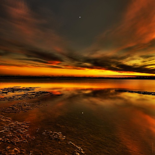 Winter Sundown Venus Setting by JamesWatkins.