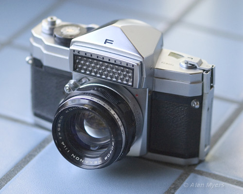 Konica F with Hexanon 52mm f1.4 lens