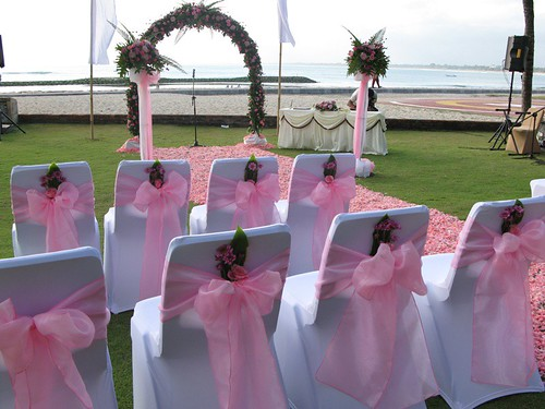 Wedding set up at Helypad Garden of Kartika Plaza