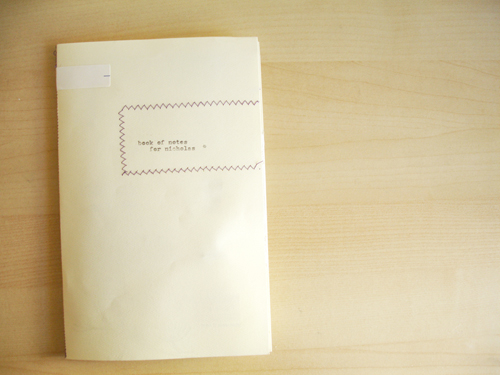 envelope book: one.