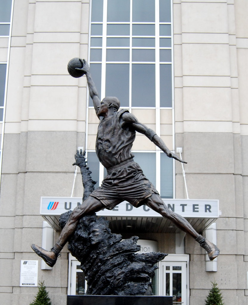 ffef61c9526 Michael Jordan's statue (justinconst) Tags: chicago basketball statue  michael shoes bulls sneakers jordan