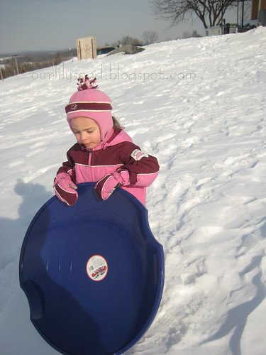 carrying her sled