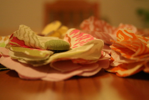 Fabric Flowers (close-up)