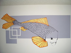 koi mural (Art Dependent) Tags: fish art wall painting mural colorful paint different bright unique wallart scales koi outline jillianmcadow