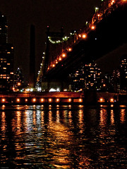 enlighted Queensboro Birdge (nimbostratus) Tags: nyc light usa newyork night manhattan tram eastriver rooseveltisland rooseveltislandtram enlightedbridge queesborobridge