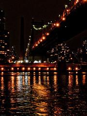 enlighted Queensboro Birdge (nimbostratus) Tags: nyc light usa newyork night manhattan tram eastriver rooseveltisland rooseveltislandtram enlightedbridge queesborobridge
