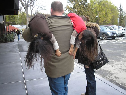 Another unique twin-carrying position