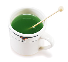 Green Tea made from a Candy Spoon