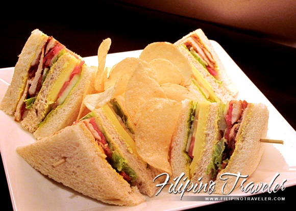 Club sandwich and potato chips