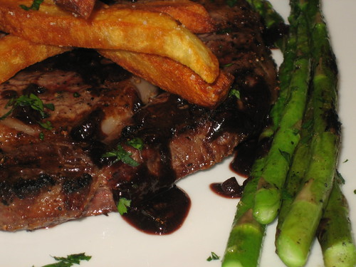 steak with bordelaise sauce and pomme frites