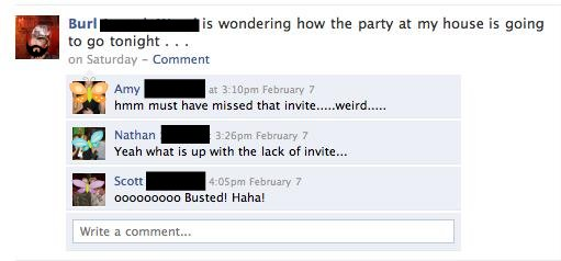 hmm must have missed that invite...weird...