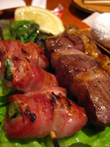 Bacon Wrapped Aspargus & Duck