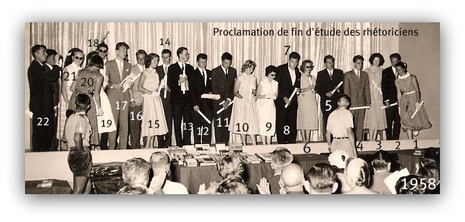 Proclamation des rhétos promotion 1958. ( Athénée royal de Bukavu )