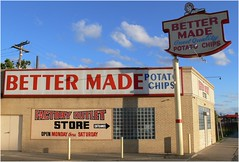 Better Made Potato Chips - A Detroit Tradition (DetroitDerek Photography ( ALL RIGHTS RESERVED )) Tags: favorite food midwest factory michigan quality detroit bbq icon chips historic panasonic fave made eat potato snack april local guest tradition better 2009 outlet 313 motown gratiot dmcfz30