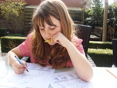 M does homework in april sun