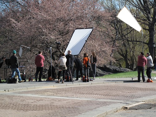 Photo shoot in Central Park