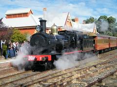 3016 Queanbeyan (james.sanders2) Tags: black train steam canberra act queanbeyan 3016 arhs nswgr c30t