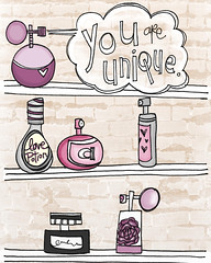 you are unique (vol25) Tags: pink brick art modern grey perfume purple girly feminine etsy vol25