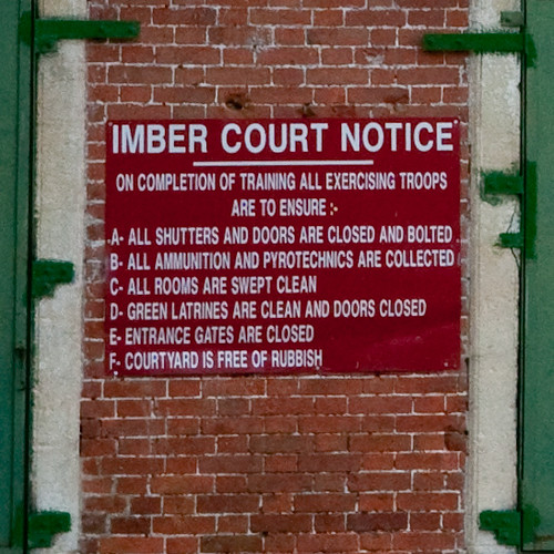 Imber village: Imber Court notice