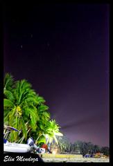 Puerto Escondido Oaxaca -Mexico (lumend13) Tags: bw beach night stars playa palmeras longshutterspeed