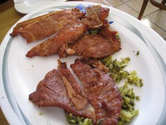 Pork Chop Noodle Soup (pork chop)