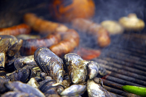 Mussels and Sausages