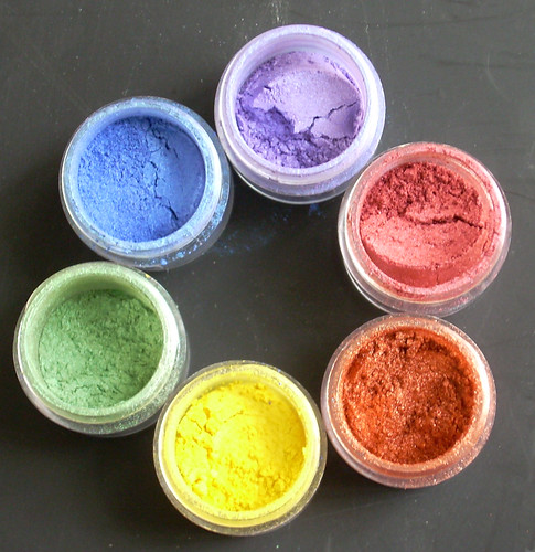 Pithy Art Blog: Color theory with mica pigment powders