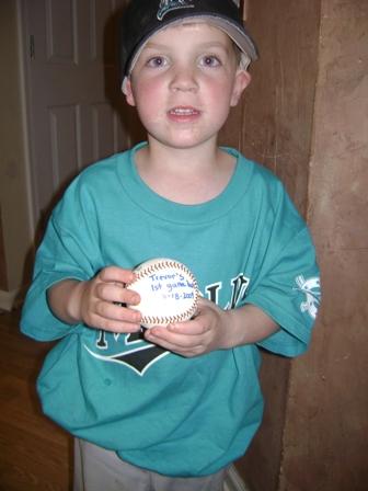 Trevor's game ball