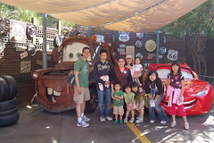 Group picture with Lightning McQueen and Mater