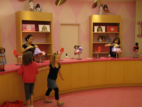 The Doll Hair Salon at American Girl Place - Chicago