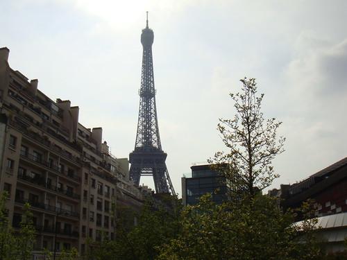 La Torre Eiffel desde la bicicleta