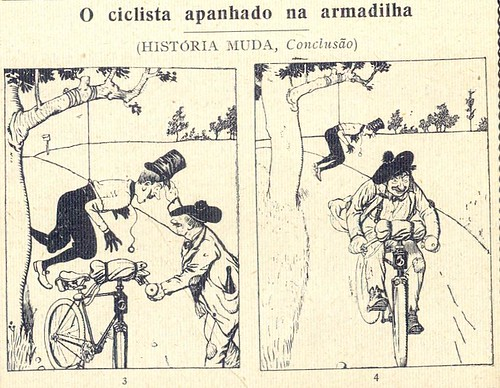 Almanaque Bertrand, 1934 - Cyclist caught in a trap 27
