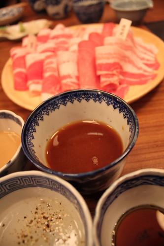 豚組しゃぶ庵 タレと肉